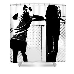 Shower Curtain featuring the photograph Children On Governors Island Ferry Ride by Lilliana Mendez