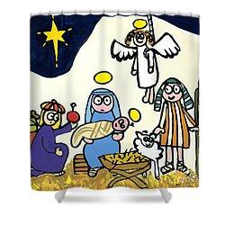Childrens School Nativity Play Shower Curtain