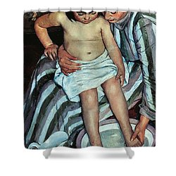 Child's Bath Shower Curtain by Mary Cassatt