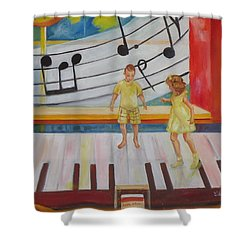 Childs Play Shower Curtain by Charme Curtin