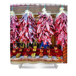 Chile Ristras And Apples Shower Curtain