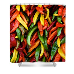 Chile Ristras Shower Curtain by Mary Lee Dereske