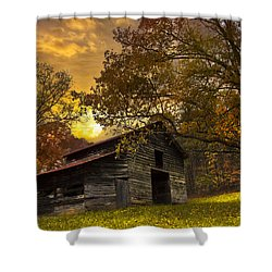 Chill Of An Early Fall Shower Curtain by Debra and Dave Vanderlaan