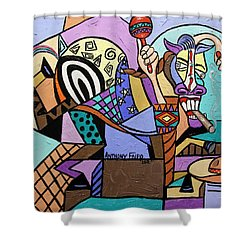 Chilli Pepper Mexican Dancing Horse Shower Curtain by Anthony Falbo