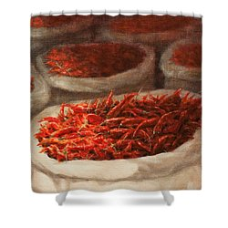 Chillis 2010 Shower Curtain by Lincoln Seligman