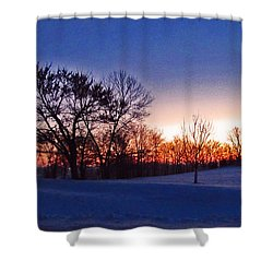 Chilly Beautiful Sunrise Shower Curtain by Minding My  Visions by Adri and Ray