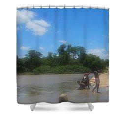 Chilonga Bridge Shower Curtain