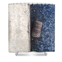 Chimay Wine Cork Shower Curtain by Rob Hans