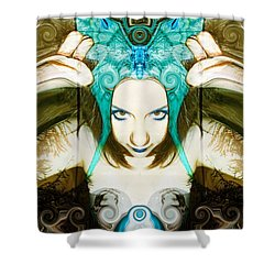 Shower Curtain featuring the photograph Chimera by Heather King