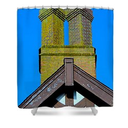 Chimney Abstract Shower Curtain by Ed Weidman