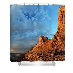 Chimney Bluffs 2 Shower Curtain by Mark Papke