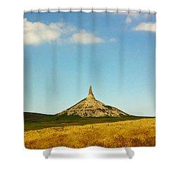 Chimney Rock Nebraska Shower Curtain