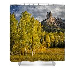 Chimney Rock San Juan Nf Colorado Img 9722 Shower Curtain
