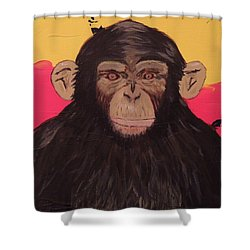 Chimp In Prime Shower Curtain