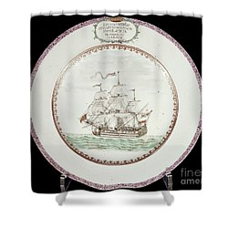 China - Dutch Ship 1756 Shower Curtain by Granger
