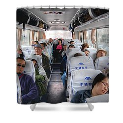 China Bus Ride  Shower Curtain