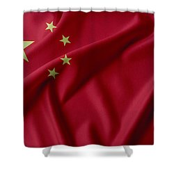 China Flag  Shower Curtain by Les Cunliffe