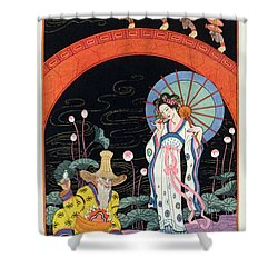 China Shower Curtain by Georges Barbier