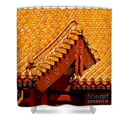 China Pavilion Shower Curtain