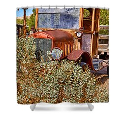 China Ranch Truck Shower Curtain by Jerry Fornarotto