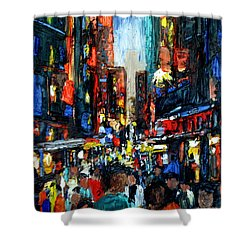 China Town Shower Curtain by Anthony Falbo