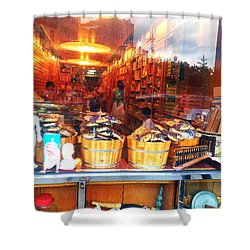 Shower Curtain featuring the photograph Chinatown Nyc Herb Shop by Joan Reese