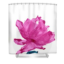 Shower Curtain featuring the painting Chinese Rose Hibiscus by Frank Bright