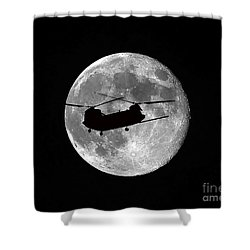 Chinook Moon B And W Shower Curtain by Al Powell Photography USA