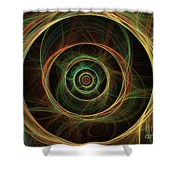 Chirality Shower Curtain by Kim Sy Ok