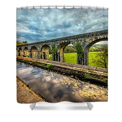 Chirk Aqueduct 1801 Shower Curtain by Adrian Evans