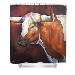 Chisholm Longhorn Shower Curtain by Karen Kennedy Chatham