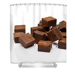 Chocolate Brownies Shower Curtain