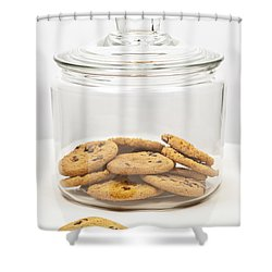 Chocolate Chip Cookies In Jar Shower Curtain by Elena Elisseeva
