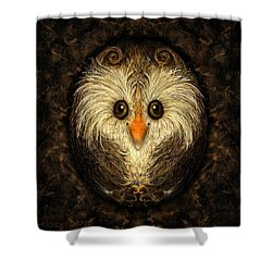 Chocolate Nested Easter Owl Shower Curtain