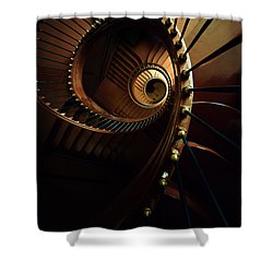 Chocolate Spirals Shower Curtain