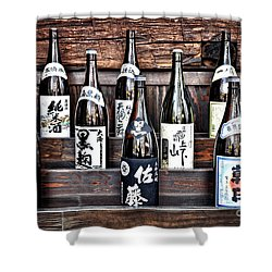 Choice Of Sake Shower Curtain by Delphimages Photo Creations