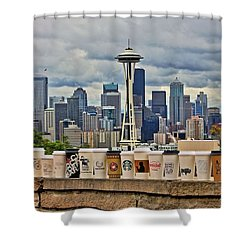 Choose Your Brew Shower Curtain by Benjamin Yeager