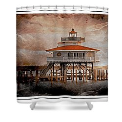 Choptank River Lighthouse Shower Curtain