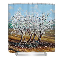 Shower Curtain featuring the painting Chosen by Meaghan Troup