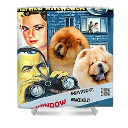 Chow Chow Art Canvas Print - Rear Window Movie Poster Shower Curtain