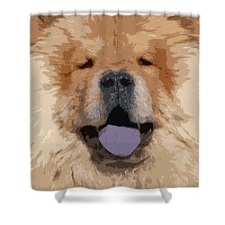 Chow Chow Shower Curtain by Nancy Merkle