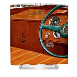 Chris Craft Cockpit Shower Curtain