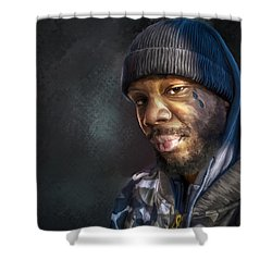 Chris Shower Curtain by Rick Mosher