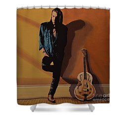 Chris Whitley Shower Curtain by Paul Meijering