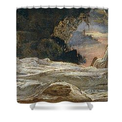 Christ And Mary Magdalene Shower Curtain by Eugenio Prati
