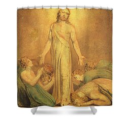 Christ Appearing To The Apostles After The Resurrection Shower Curtain by William Blake