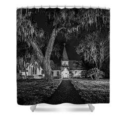 Christ Church Bw Shower Curtain by Debra and Dave Vanderlaan