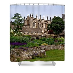 Christ Church In Spring Shower Curtain by Rona Black