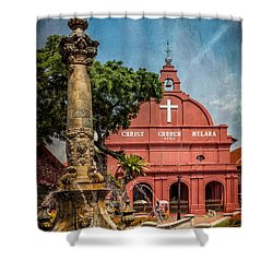 Christ Church Malacca Shower Curtain by Adrian Evans