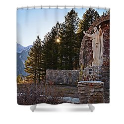 Christ Of The Mines Shower Curtain